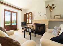 Wohnraum Finca Mallorca mit Pool für 6 Personen PM 3886