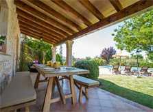 Terrasse 2 Finca Mallorca mit Pool Pollensa PM 392