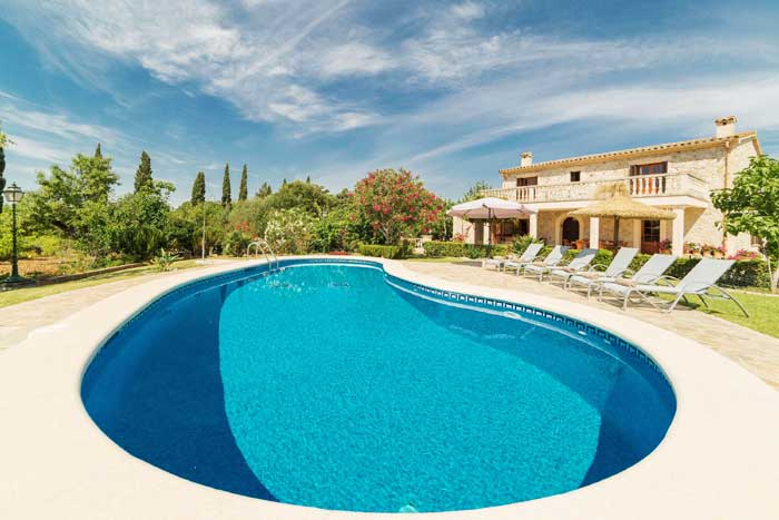 Poolblick Finca Mallorca Pollensa PM 3993