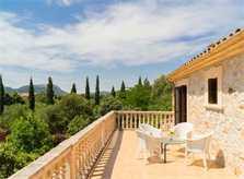 Terrasse oben Finca Mallorca 8 Personen PM 3993