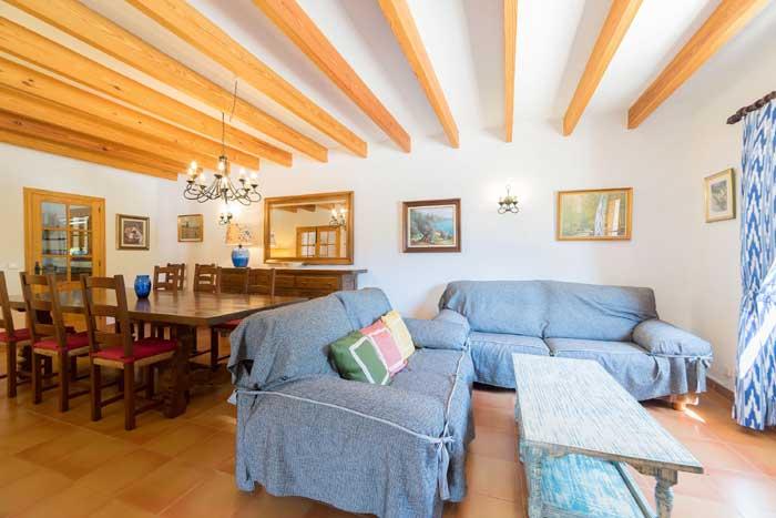 Wohnraum 2 Finca Mallorca 8 Personen PM 3993