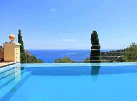 Meerblick und Pool Exklusives Ferienhaus Mallorca 10 Personen PM 509