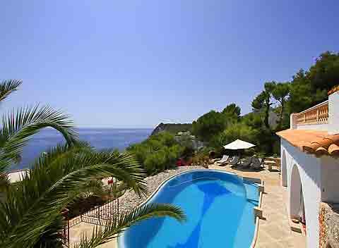 Pool und Meerblick Ferienhaus Mallorca für 10 Personen PM 511
