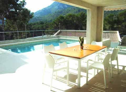 Pool und Terrasse Modernes Ferienhaus Mallorca 2 - 8 Personen PM 512