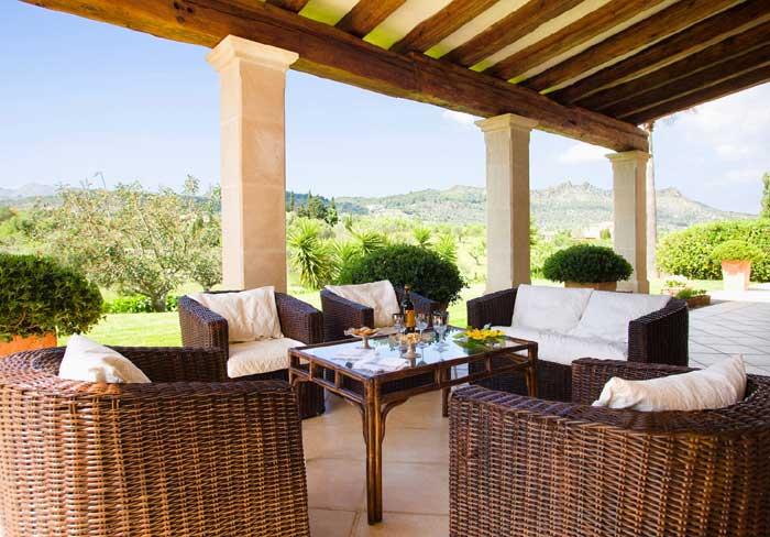 Terrasse 2 Exklusive Finca Mallorca mit Pool PM 530