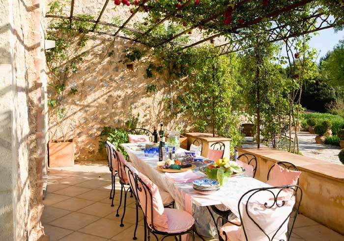 Terrasse Exklusive Finca Mallorca mit Pool PM 530