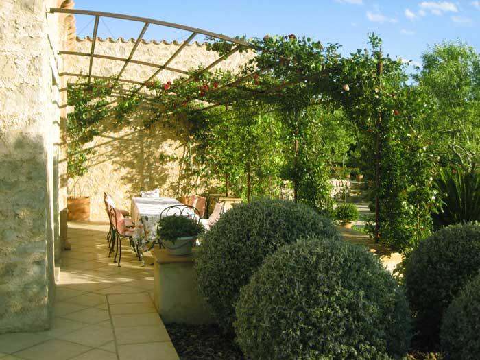 Terrasse 5 Exklusive Finca Mallorca mit großem Pool und Service PM 530