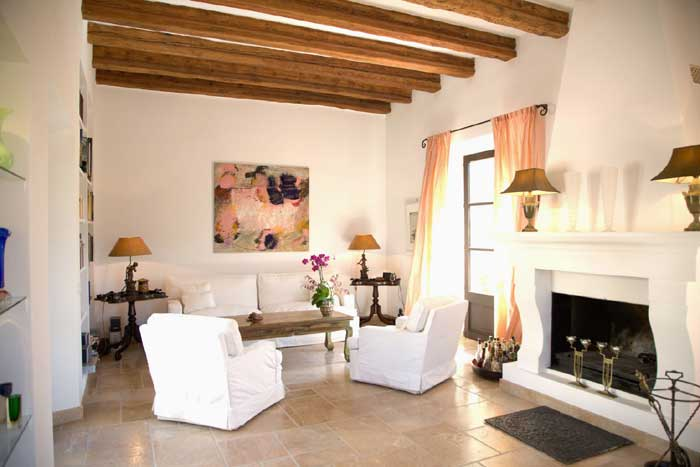 Wohnraum Luxus-Finca Mallorca mit Pool PM 530