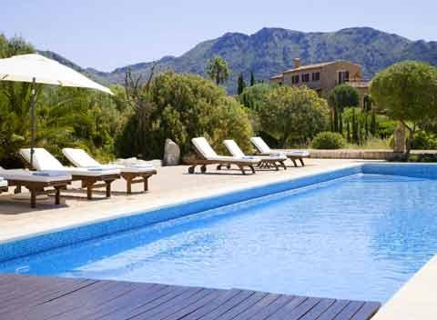 Großer Pool Luxus-Finca Mallorca mit Service bei Arta  9 Personen PM 530