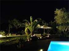 Garten bei Nacht Finca Mallorca PM 538 Exklusive Finca 8 Personen Capdepera