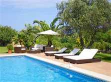 Pool und Liegen Finca Mallorca PM 538 Exklusive Finca 8 Personen Capdepera
