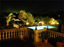 Pool bei Nacht Finca Mallorca PM 538 Exklusive Finca 8 Personen Capdepera
