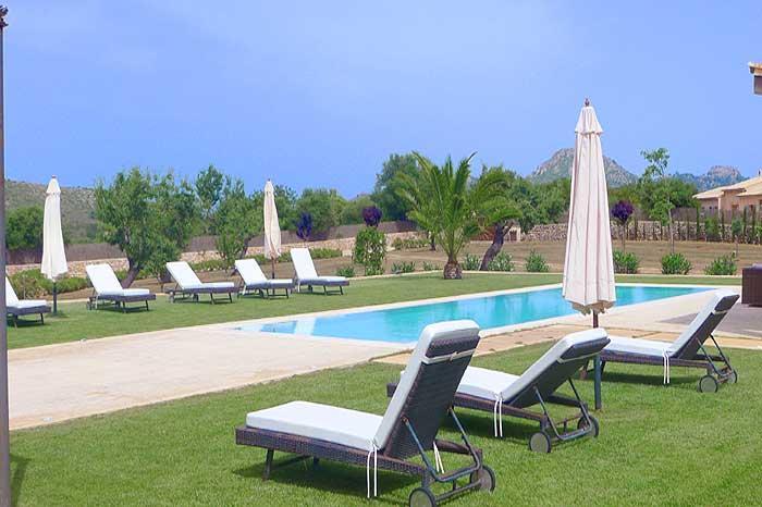 Poolblick 2 Finca Mallorca mit Pool für 8 - 10 Personen PM 5397