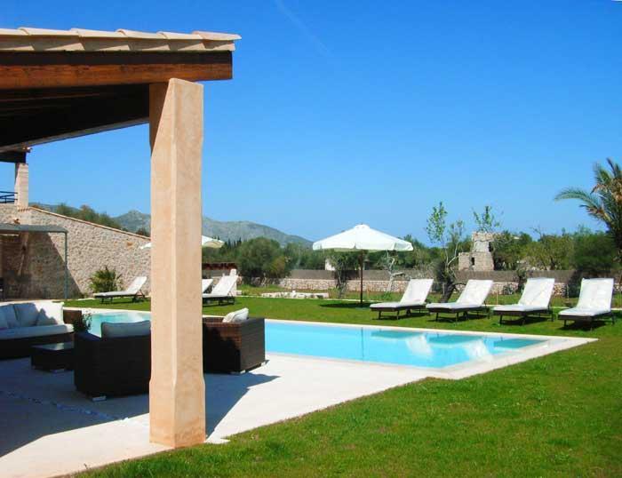 Terrasse und Pool Finca Mallorca 8-10 Personen PM 5397