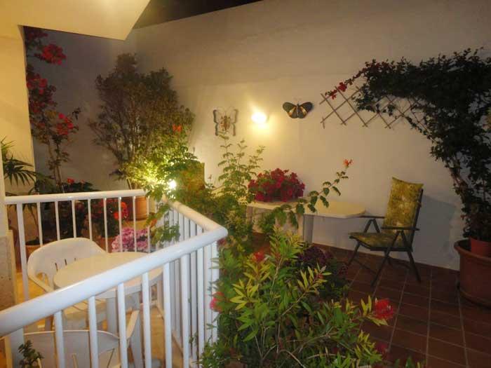 Patio mit Blumen Ferienwohnung Cala Ratjada 2 - 4 Personen PM 545 A