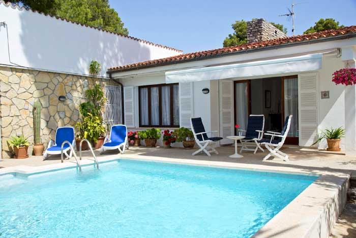 Poolblick 2 Ferienhaus Mallorca PM 5475
