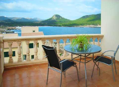 Meerblick Ferienwohnung Cala Ratjada Pool Klimaanlage 2 - 4 Personen PM 548