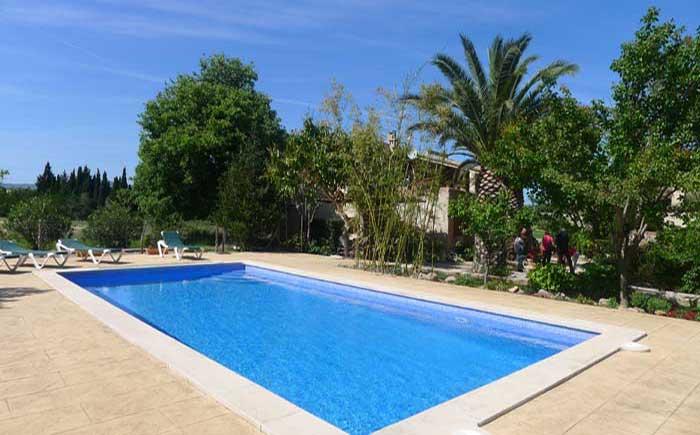 Poolblick Finca Mallorca mit Pool bei Arta PM 5492