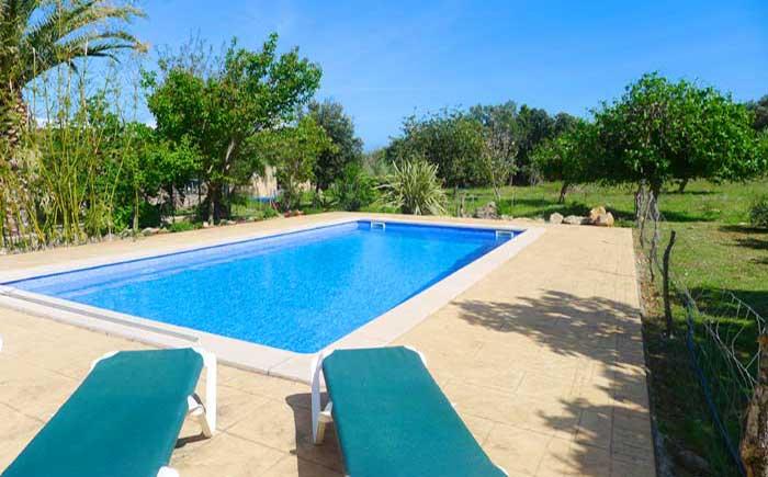 Poolblick 2 Finca Mallorca mit Pool bei Arta PM 5492