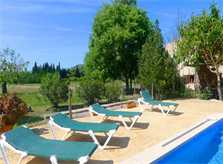 Pool und Liegen Finca Mallorca mit Pool bei Arta PM 5492