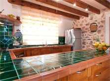Kueche 3 Finca Mallorca mit Pool für 8 Personen bei Arta PM 569