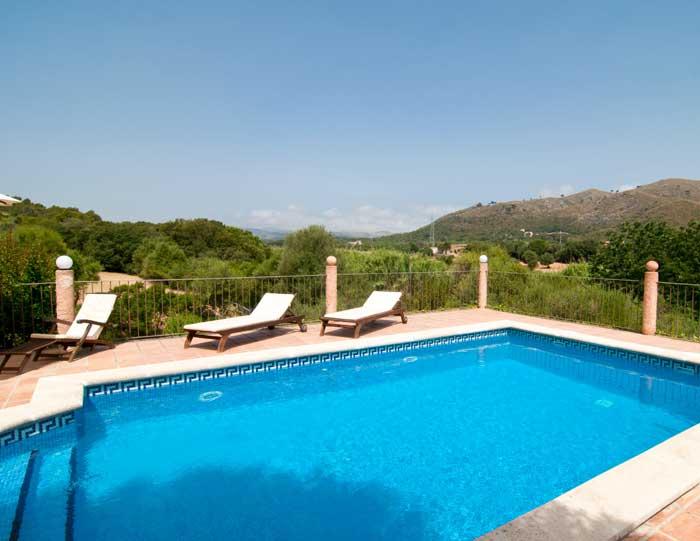 Pool und Blick 3 Finca Mallorca 8 Personen Arta PM 569