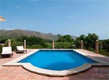 Pool und Blick Finca Mallorca 8 Personen Arta PM 569