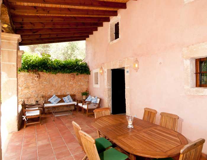 Terrasse Finca Mallorca mit Pool 8 Personen Arta PM 569