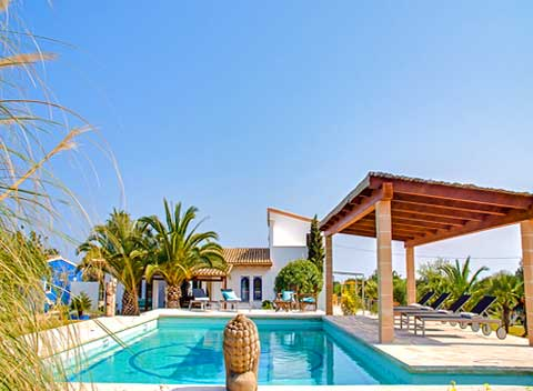 Großer Pool Finca Mallorca 8 - 12 Personen PM 590