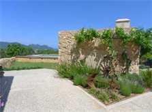 Blick in die Landschaft Finca Mallorca mit Pool und Klimaanlage PM 5915