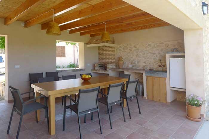 Überdachte Terrasse Finca Mallorca mit Pool für 6-10 Personen PM 5915