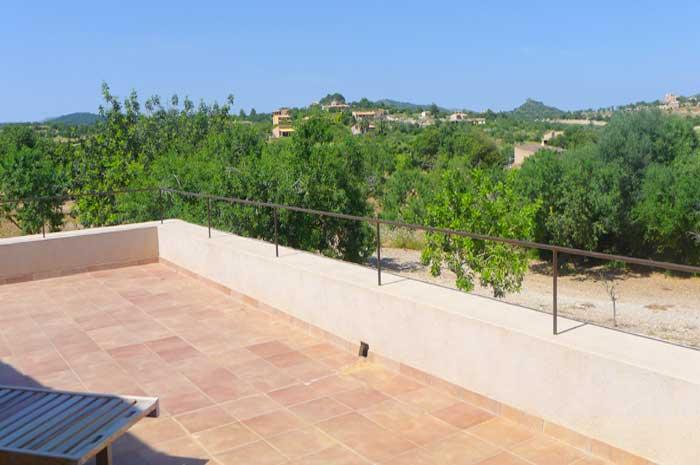 Blick von oben Finca Mallorca mit Pool und Klimaanlage PM 5915