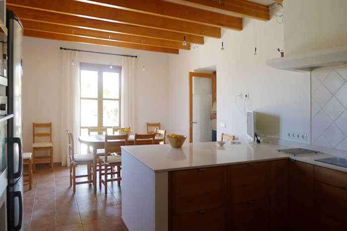 Küche Moderne Finca Mallorca mit Pool und Klimaanlage PM 5915