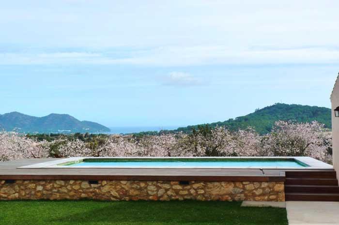 Poolblick 3 Finca Mallorca mit Pool und Klimaanlage PM 5915