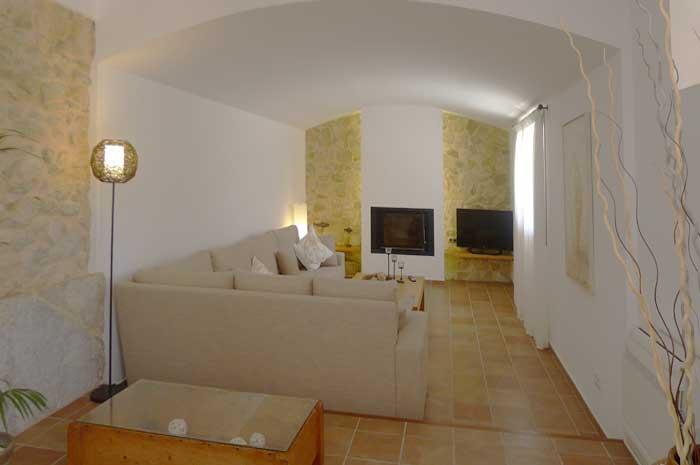 Wohnraum Finca Mallorca mit Pool und Klimaanlage für 6-10 Personen PM 5915