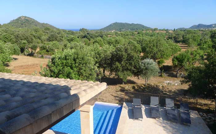 Blick von oben Finca Mallorca Pool 6 Personen PM 5921