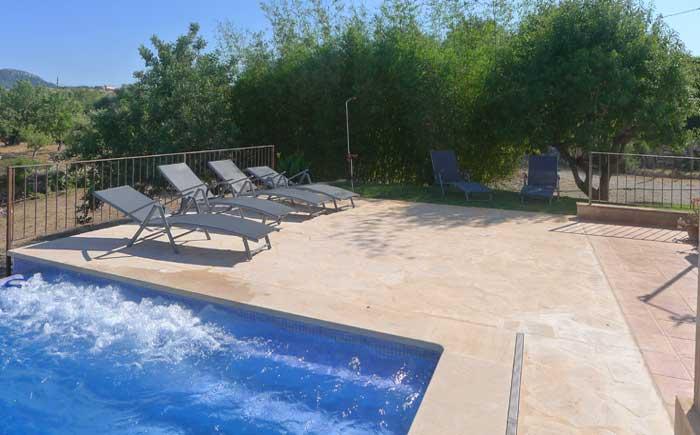Terrasse 2 Finca Mallorca Pool 6 Personen PM 5921