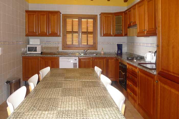 Küche Finca Mallorca für 12 Personen mit Pool PM 597