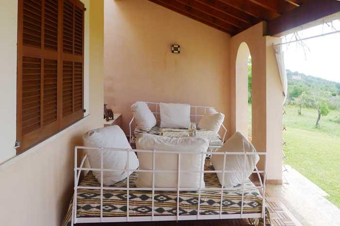 Terrasse Finca Mallorca für 12 Personen mit Pool PM 597