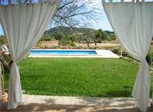 Terrasse 2 Finca Mallorca für 12 Personen mit Pool PM 597