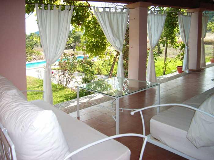 Terrasse 3 Finca Mallorca für 12 Personen mit Pool PM 597