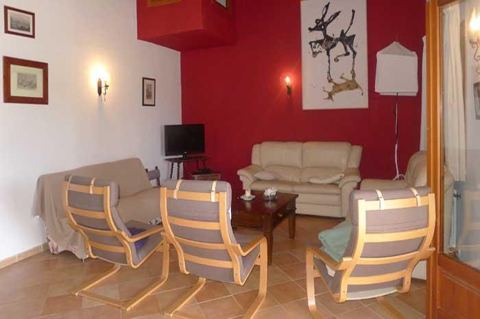 Wohnraum Finca Mallorca für 12 Personen mit Pool PM 597