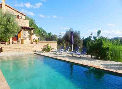 Großer Pool Finca Mallorca für 8 - 10 Personen PM 6009