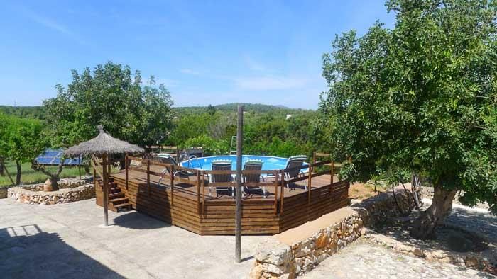 Blick auf das Schwimmbassin Finca Mallorca PM 6017
