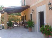 Terrasse Finca Mallorca mit Pool PM 6022