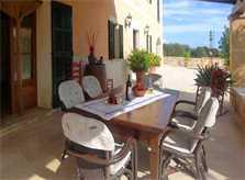 überdachte Terrasse Fincawohnung Mallorca mit Pool 6 Personen PM 6022
