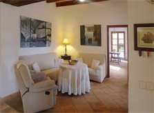 Wohnzimmer Fincawohnung Mallorca 10-12 Personen Pool PM 6022