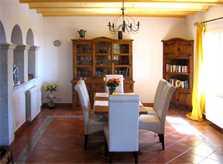 Essplatz Ferienhaus Mallorca Südosten mit Pool für 4 Personen PM 605