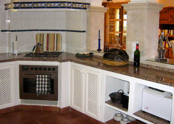 Küche Ferienhaus Mallorca Südosten mit Pool für 4 Personen PM 605