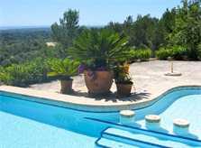 Poolblick 2 Ferienhaus Mallorca Südosten mit Pool für 4 Personen PM 605